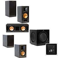 Acoustic Sound Design Deal: Klipsch RB-61II 5.1 Home Theater System: Pair of RB-61II Bookshelf, Pair of RB-51II Bookshelf, RC-52II Center, SW-310 Subwoofer $1199 with free shipping