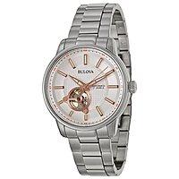 Rakuten (Buy.com) Deal: Bulova Watches: Men's Automatic Watch w/ Skeleton Window $100, Women's Fairlawn Stainless Steel Two-Tone Watch $54 with free shipping
