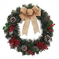 Home Depot Deal: Up to 75% Off Holiday Decorations: 6-Pack Artificial Wreaths $12, 4-Pack Gift Wrap