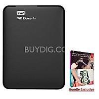 BuyDig Deal: 2TB Western Digital Elements USB 3.0 Portable HDD + Adobe PEPE 12