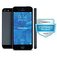 FreedomPop Deal: 16GB FreedomPop iPhone 5 LTE Smartphone (Certified Pre-Owned) + 1GB Unlimited Data Plan Trial + Unlimited Voice Plan Trial $199.99 with free shipping