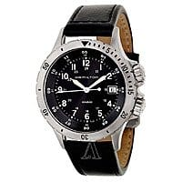 Ashford Deal: Men's Hamilton Khaki Field Watch w/ Leather Strap  $149 with free shipping