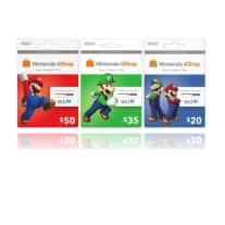 Nintendo eShop Gaming Prepaid Cards: $50 for $40, $35 for $28, or $20 for  $16 + Free Shipping