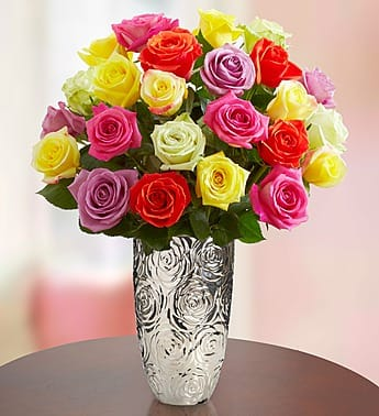 1-800-Flowers: $15 Credit: 24 Assorted Roses (Bouquet Only)  $9 & More + Free Shipping (PayPal Payment Required)