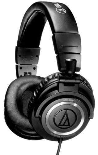 Audio-Technica ATH-M50 Professional Studio Headphones: w/ Coiled Cable or Straight Cable (Refurbished) $75 + Free Shipping