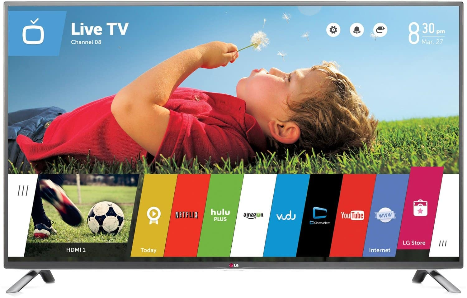"47"" LG 47LB6300 1080p 120Hz Smart LED HDTV + 1-Year Netflix Subscription  $499 + Free Shipping"