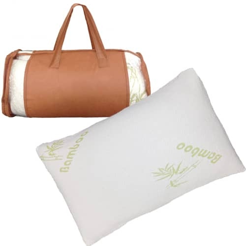 Bamboo Memory Foam Hypoallergenic Pillow  $25 + Free Shipping