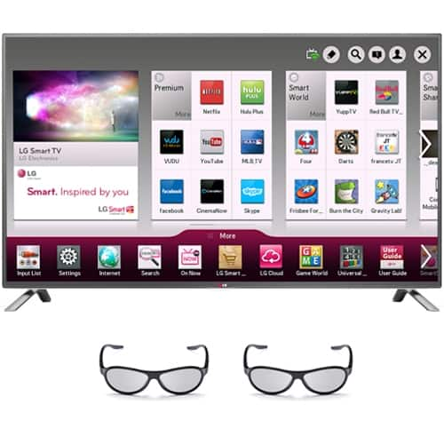 "HDTVs w/ Dell eGift Cards: 55"" LG 55LB6500 3D + 1-Year Netflix w/ $350 eGift Card  $1099 & Many More + Free Shipping"