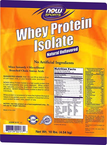 10lbs NOW Foods Whey Protein Isolate (Unflavored)  $78.50 + Free Shipping