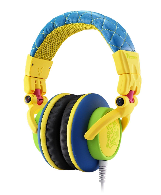 Tt eSPORTS Dracco Flare Yellow High Performance Professional Headphones (HT-DRA007OEYE) - $9.99 AR (or less) + Free Shipping @ Newegg.com