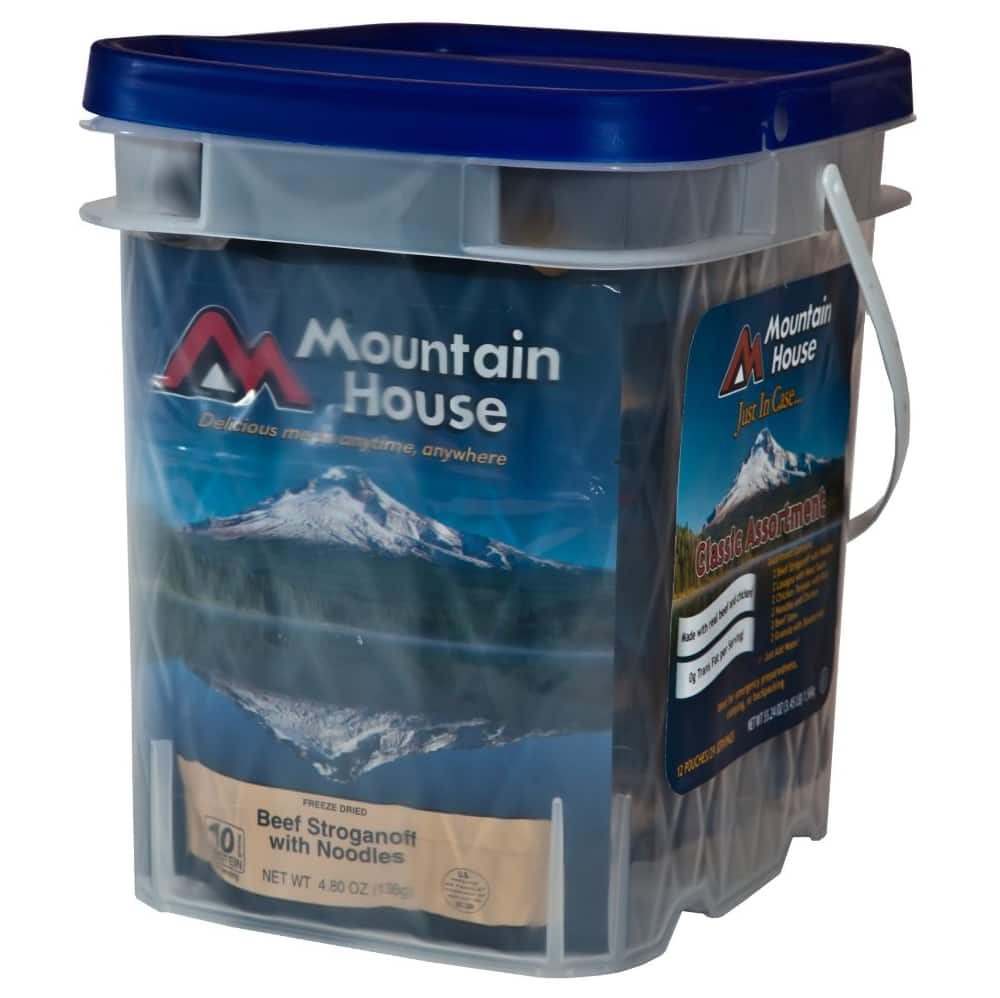 Mountain House Classic Bucket  (freeze dried meals) $47.26 + Free shipping (BACK) ENDS 15OCT14