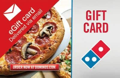 $50 JCPenney or Dominos Gift Cards  $40 (Email Delivery)