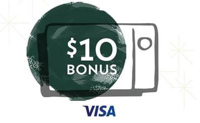 Starbucks eGift Card: Purchase $10 eGift Card, Receive $10 Bonus   w/ Visa Card