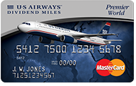 US Airways® Premier World MasterCard - 50k points after first purchase, $89 annual fee
