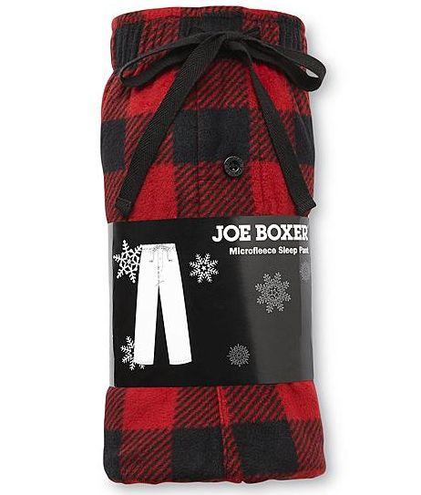 Men's Joe Boxer Fleece Pajama Pants (various colors)  $8 + Free Store Pickup