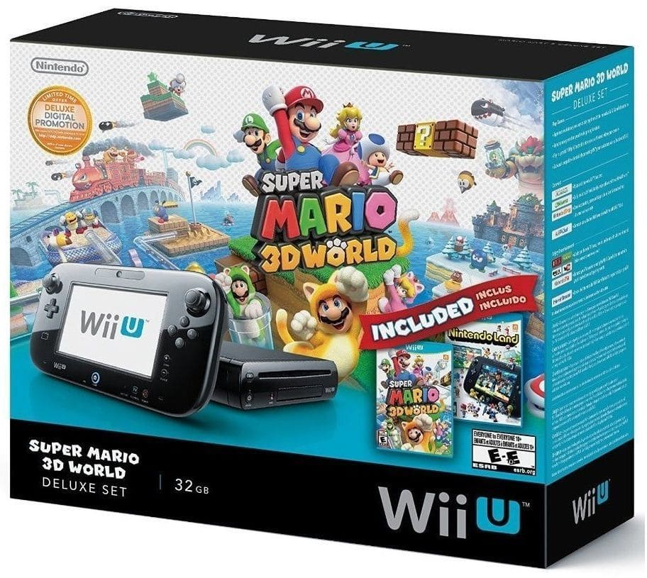 32GB Nintendo Wii U Deluxe Set w/ Super Mario 3D World & Nintendo Land  $250 + Free Shipping