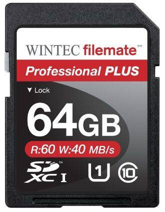 64GB Wintec Professional Plus Class 10 SDXC Flash Memory $18.48