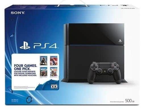 Sony PlayStation 4 Four Games, One Pick Bundle $369.99 + free shipping