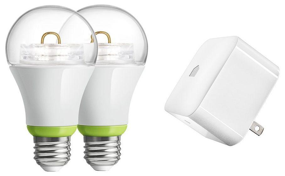 GE Link Starter Kit w/ Link Hub and 2x Link A19 Light Bulbs  $25