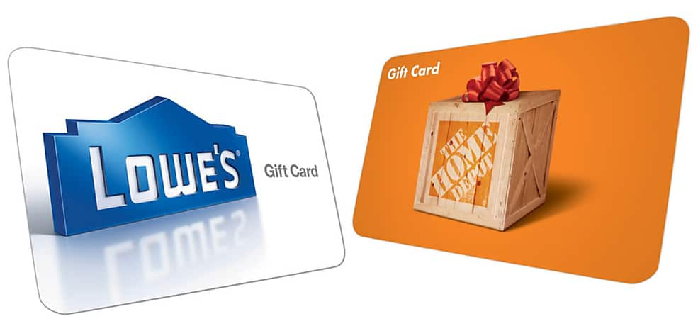 Lowes or Home Depot Gift Card $120 value for $105 at Office Depot/Office Max