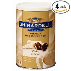 Ghirardelli Chocolate Premium Hot Cocoa Mix 4-pack 16oz Tins: Double Chocolate $13, Chocolate Mocha $13, White Mocha $13, Chocolate Hazelnut $14  + Free Shipping