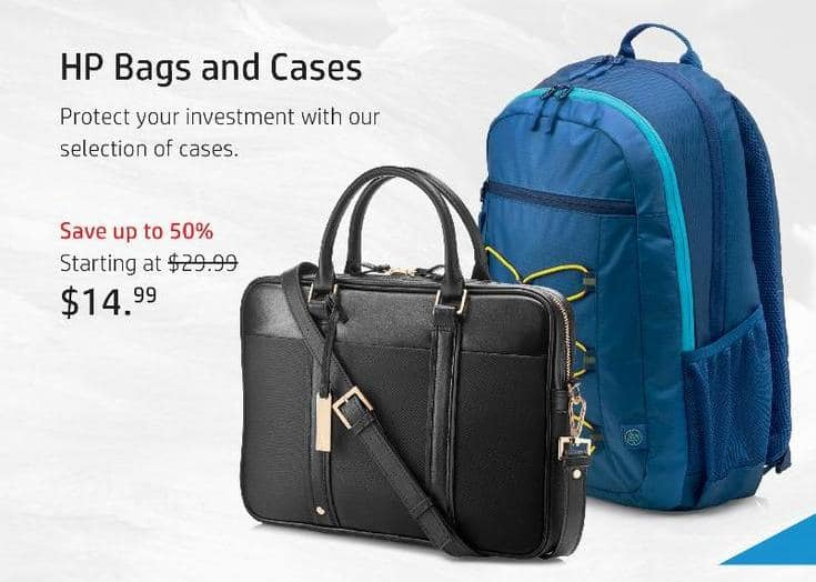 HP Black Friday: HP Bags and Cases - $14.99 and Up