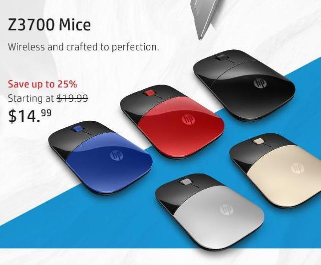 HP Black Friday: HP Z3700 Mice - 14.99 and Up