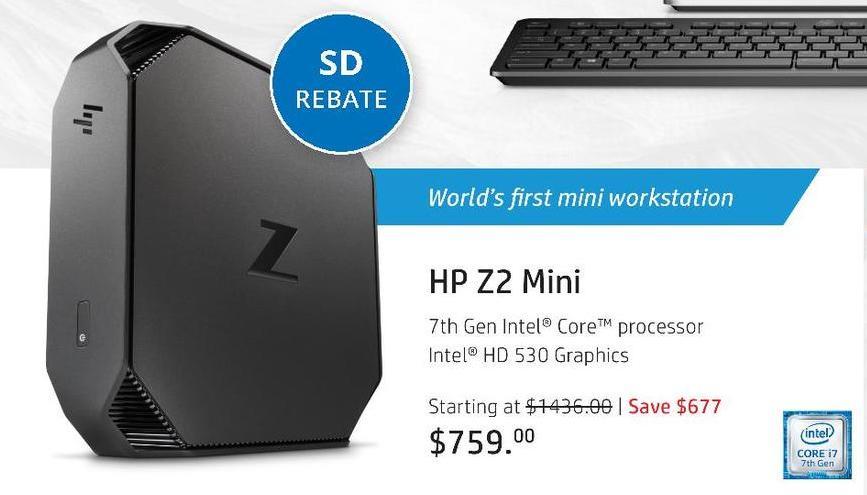 HP Black Friday: HP Z2 Mini G3 Workstation for $634.00 after $125 rebate