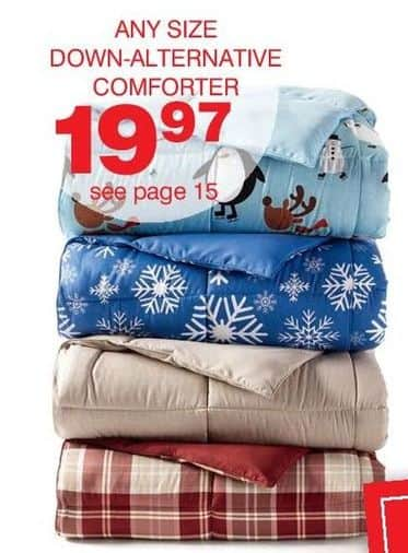 Bon-Ton Black Friday: Living Quarters Down Alternative Comforters, Select Styles, Any Size for $19.97