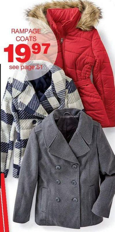 Bon-Ton Black Friday: Rampage Women's Coats, Select Styles for $19.97