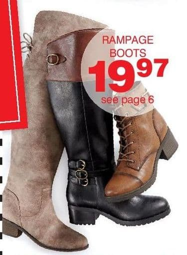 Bon-Ton Black Friday: Rampage Women's Boots for $19.97