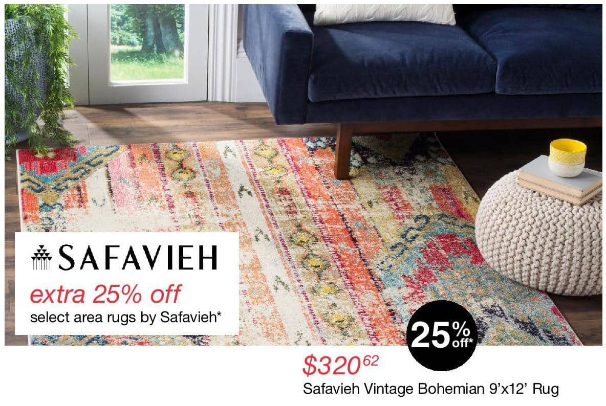 Overstock Black Friday: Select Safavieh Area Rugs - 25% Off