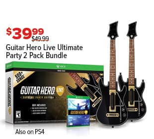 GameStop Black Friday: Guitar Hero Live Ultimate Party 2 Pack Bundle for Xbox One for $39.99