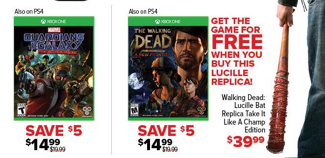 GameStop Black Friday: Walking Dead Telltale Series A New Frontier for $14.99