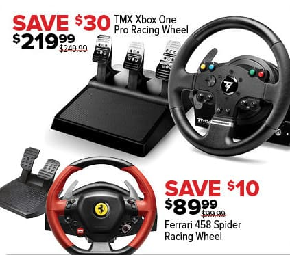 GameStop Black Friday: Ferrrari 458 Spider Racing Wheel for $89.99