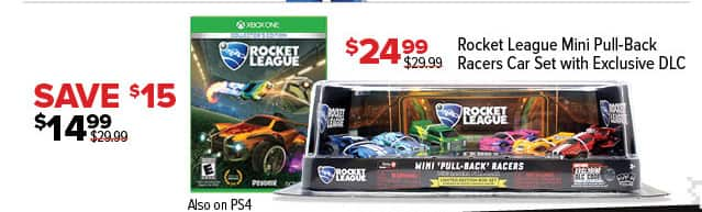 GameStop Black Friday: Rocket League Mini Pull-Back Racers Car Set with Exclusive DLC for $24.99