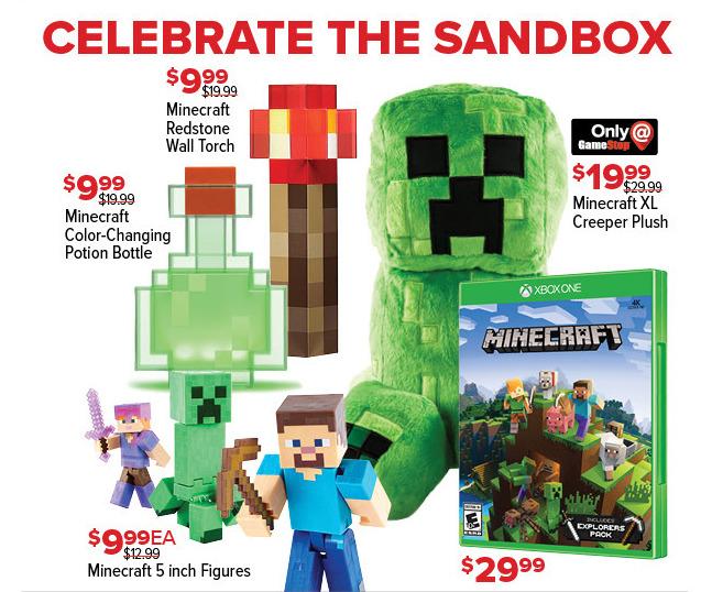GameStop Black Friday: Minecraft 5 Inch Figures for $9.99