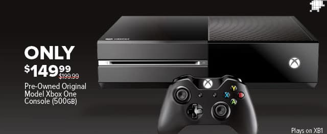 GameStop Black Friday: Xbox One 500GB, Original Model (Pre-Owned) for $149.99