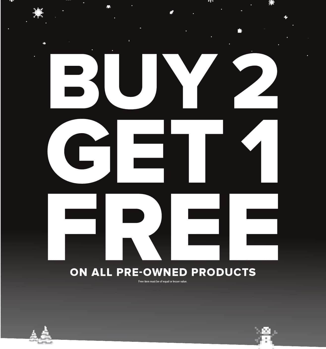 GameStop Black Friday: All Pre-Owned Products - B2G3rd Free