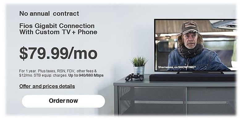 Verizon Fios Black Friday: Fios Gigabit Connection for $79.99