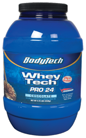 Two 5.15lb BodyTech Whey Tech Pro 24 Whey Protein (various flavors) $54 + Free Shipping