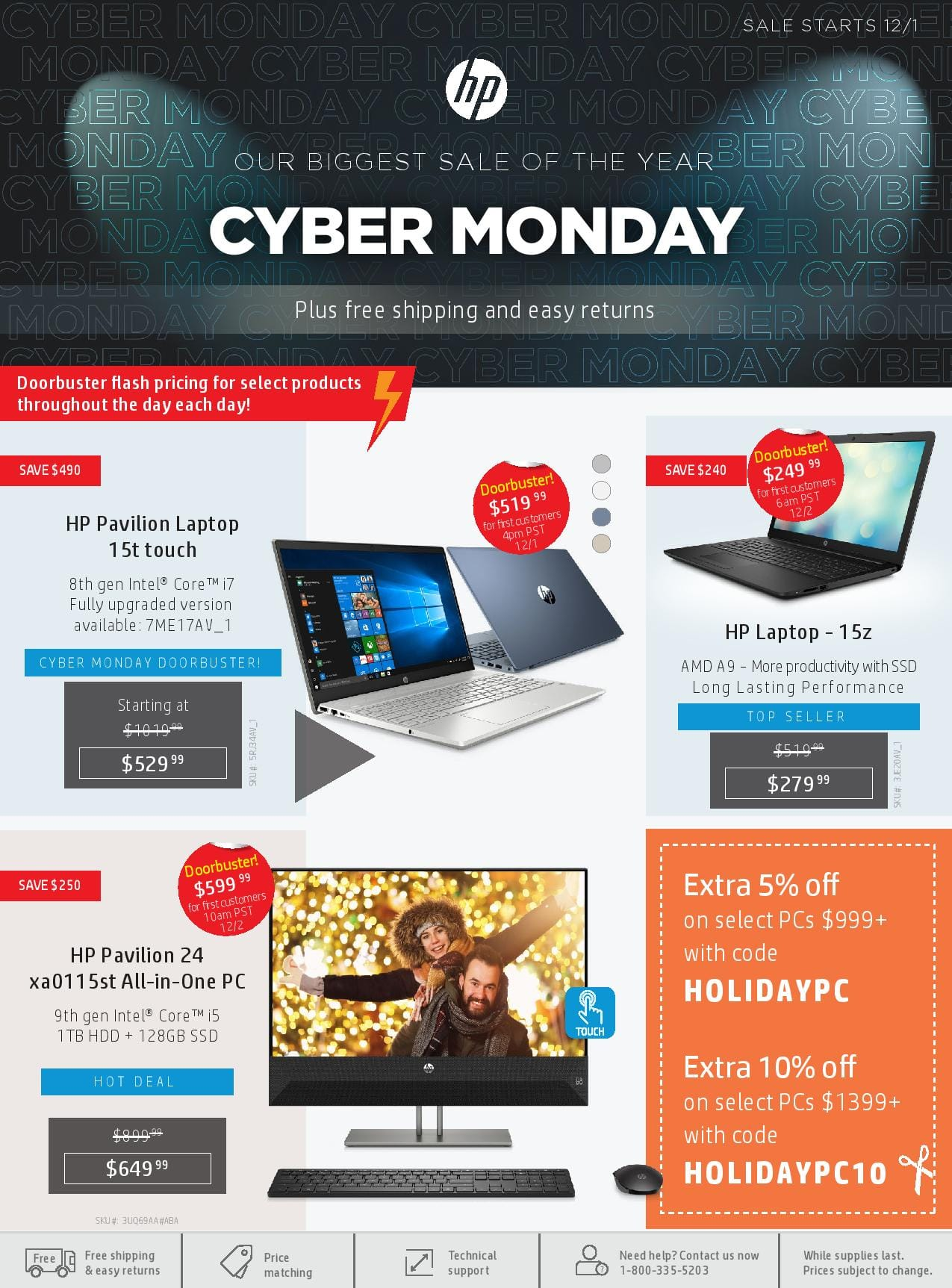 HP Cyber Monday 2019 Ad