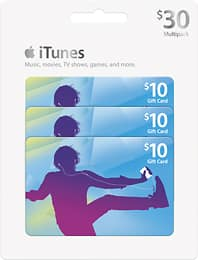 iTunes $10 Gift Cards (3-Pack) for $22.95 at BestBuy.com