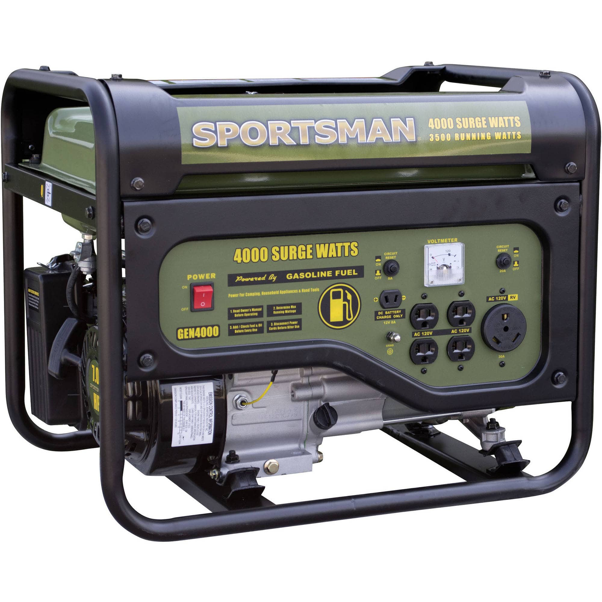 Sportsman Gasoline 4000W Portable Generator $249 Shipped via