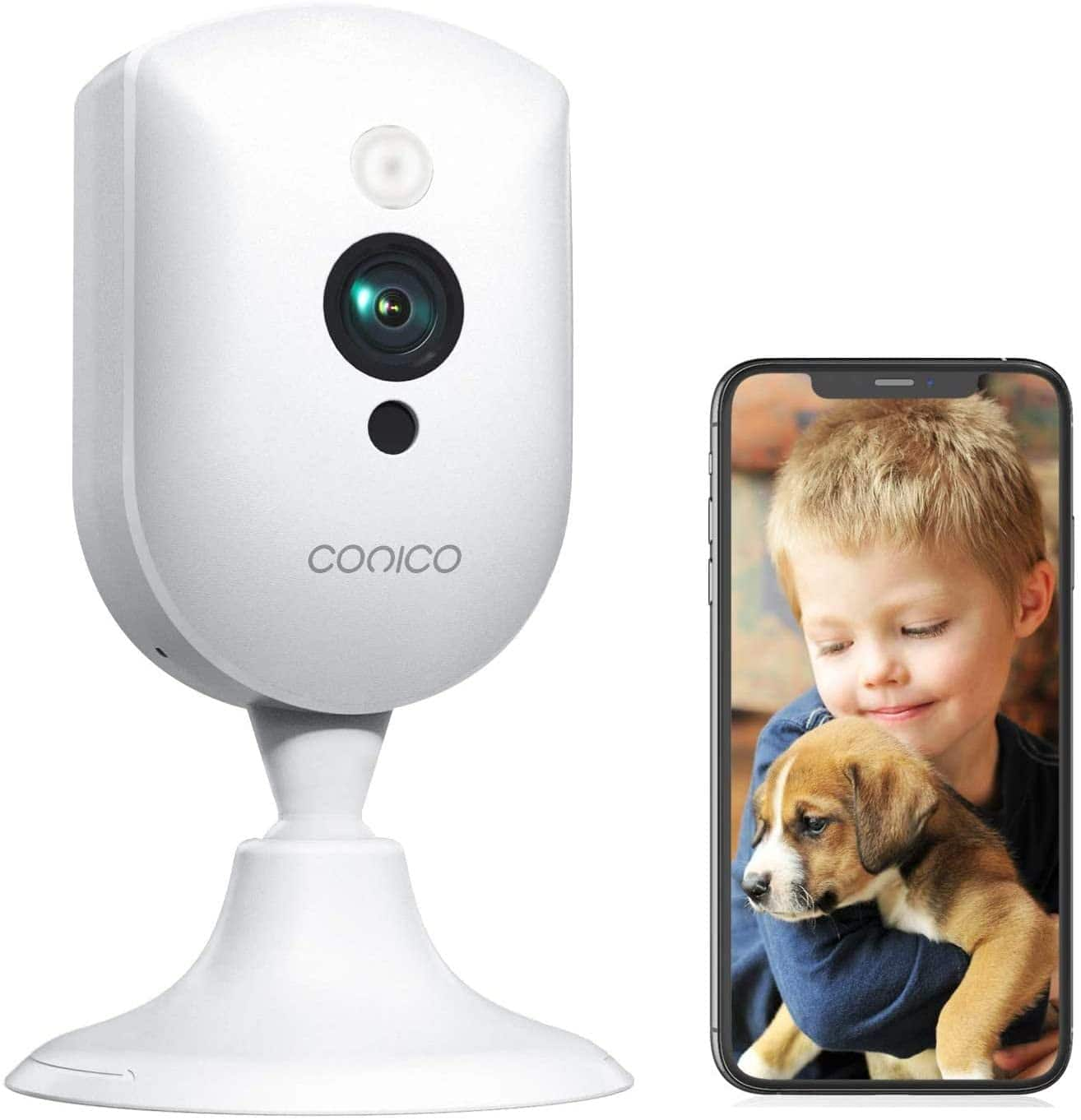 Baby Monitor, Conico 1080P Home Security Indoor Camera with Sound Motion Detection IR Night Vision, Pet Camera with 2- Way Audio 8X Zoom for $12.99 AC+FS W AMAZON PRIME