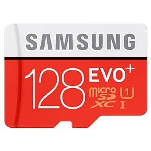 Samsung Evo Plus 128gb Uhs-i Class 10 MicroSDXC Card w/ Adapter $37