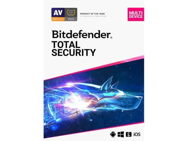 Bitdefender Total Security 2021 - 1 Year / 5PCs for $24.99