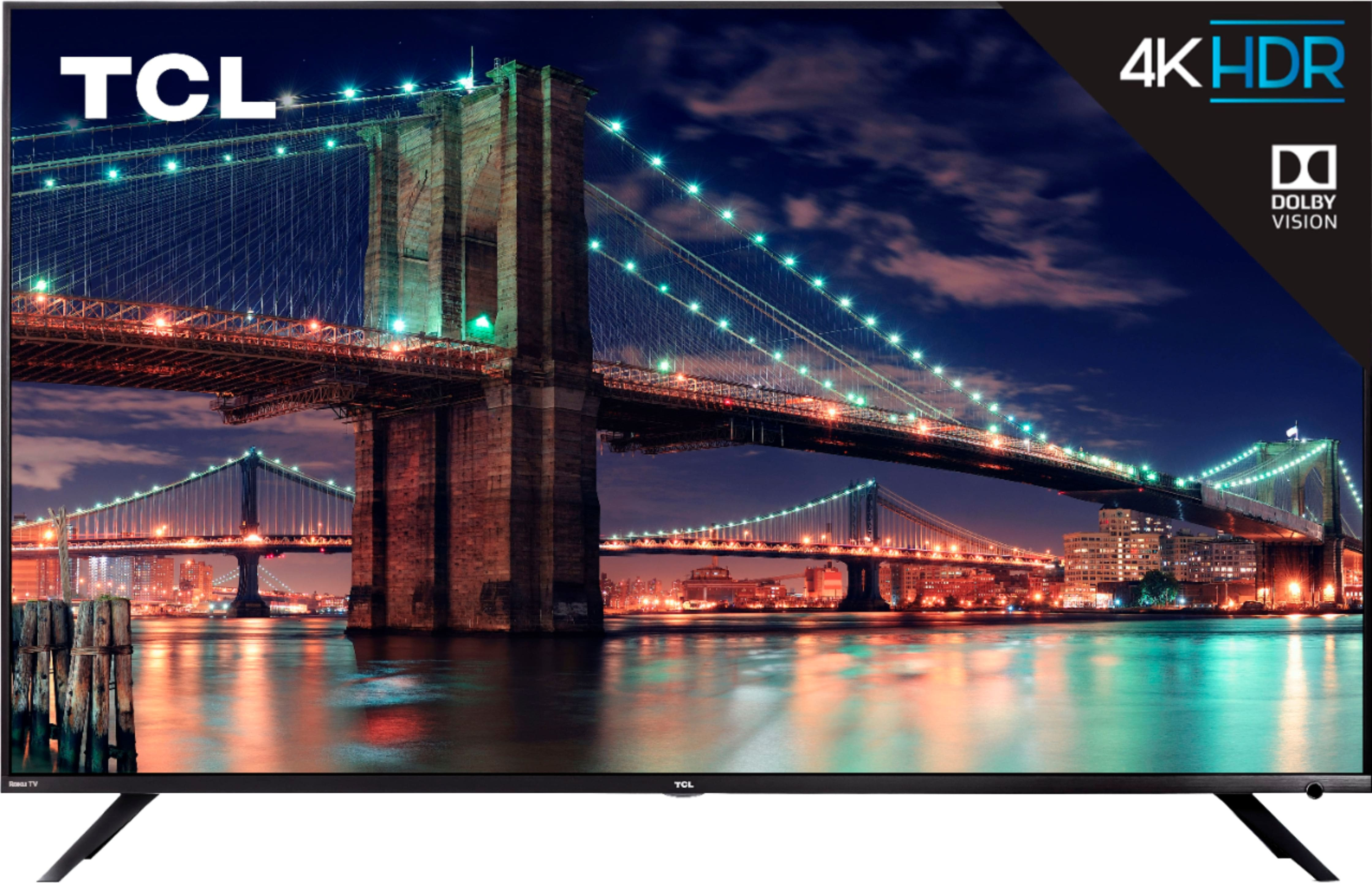 """55"""" TCL 55R615 Class - LED - 6 Series - 4K UHD TV with HDR Roku TV $399 at Best Buy"""