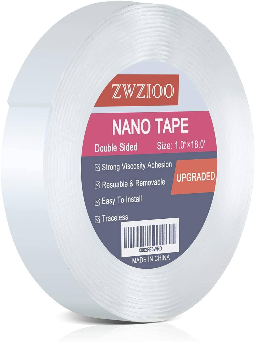 Amazon.com : Double Sided Tape Heavy Duty (18FT), Multipurpose Mounting Tape Removable Nano Tape Adhesive Gel Grip $6.27