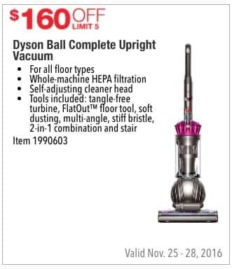 Costco Wholesale Black Friday: Dyson Ball Complete Upright Vacuum - $160 Off